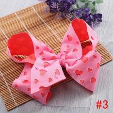Okdeals Colorful Anak Rambut Klip Bowknot Hairpins Grosgrain Ribbon Butterfly Anak-anak BB Girls Rambut Aksesoris Headwear Gaya 3-Intl