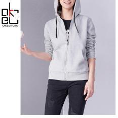 Spesifikasi Okechuku Bella Jaket Topi Wanita Sporty Basic Polos Light Grey Online