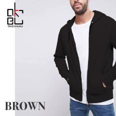 Jual Okechuku Brown Hoodi Jacket Training For Man Black Branded