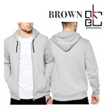 Harga Okechuku Brown Jaket Hoodie Pria Basic Sporty Grey Original
