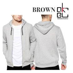 Jual Beli Okechuku Brown Jaket Hoodie Pria Basic Sporty Grey Di Dki Jakarta
