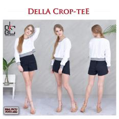 Toko Jual Okechuku Della Crop Top Long Sleeve Sweater For High Waist Pants White