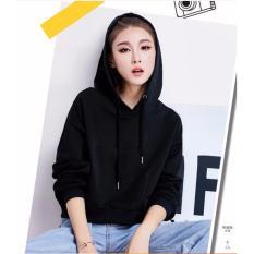 Spesifikasi Okechuku Della Sweater Hoodie Crop Fashion Basic Polos Wanita Black Yang Bagus Dan Murah