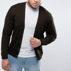 Beli Okechuku Rico Cardigan Rajut Pria Size Jumbo Big Size Coklat Tua Online