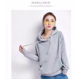 Beli Okechuku Sweater Hoodie Wanita Bahan Fleece Fashion Korea Abu Muda Okechuku Online