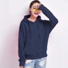Ongkos Kirim Okechuku Sweater Hoodie Wanita Bahan Fleece Navy Di Dki Jakarta