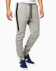 Toko Okechuku Unisex Jogger Pants Pocket With Zipper Grey Lengkap