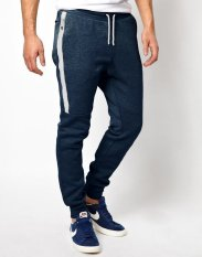 Harga Okechuku Unisex Jogger Pants Pocket With Zipper Navy Fullset Murah