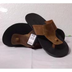 Promo Okey Sandal Pria Kulit Keren Model Ky 097 Black Murah