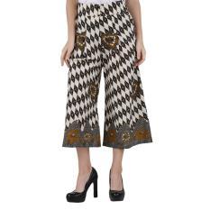 Oktovina-HouseOfBatik Celana Kulot Katun - Monochrome Batik CKKM-1 - Hitam Putih