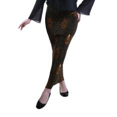 Oktovina-HouseOfBatik Rok Batik Maxi Plisket Semi Sutra – Plisket Batik RPPS-12 – Hitam / Rok Batik / Rok Panjang Batik / Batik Wanita