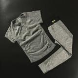 Harga Termurah T Shirt Kebugaran Berlari Atasan Perempuan Aerobik Abu Abu Lengan Pendek 96 Model Hitam Pinggang Celana
