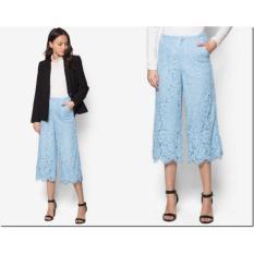 Oleno Diane Midi Culotte Pants - Celana Kulot Wanita - Putih