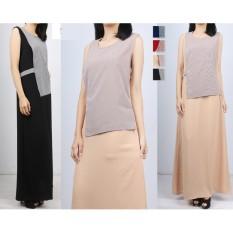 Oma Fashion Taurean Maxi Flower Tanpa Lengan 2pcs - 4 Warna - M