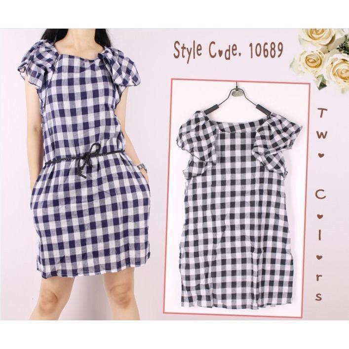 Shining Collection Midi Dress Batik Rosdiana Short Dress Wanita - Coklat  Oma Holley Fashion hannessa Mini Dress Kotak Lengan Pendek- Size M 6706eb3b2d