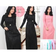 Beli Oma Holley Fashion Noemi Maxi Muslim Pinggang Pita Size M Online Murah