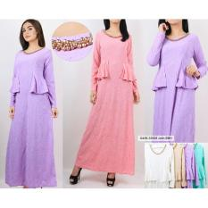 Oma Holley Fashion Nuraisha  Maxi Muslim Motif Bunga  - Size M