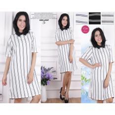 Flavia Store T Shirt Dress Lengan Pendek Fs0026 Maroon Gaun Kaos ... - Baju