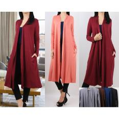 Oma Holley Fashion Varischa Long Cardigan W Kantong Size L Indonesia Diskon 50