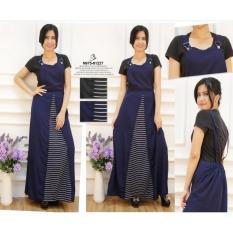 Promo Oma Holley Fashion Yessie Maksi Dress Sleeveless 2 Warna Size L Oma Fashion