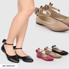 Omah Fesyen Sefrika Ribbon Pointy Flat Color: Mocca