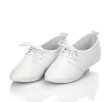 Omen Oxfords Shoes Flats Pu Kulit Lace Up Moccasins Ladies Kasual Sepatu Putih Intl Di Tiongkok