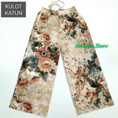 Beli Onanta Kulot Bunga Kulot Katun Motif Kembang Besar Celana Wanita Celana Panjang Katun Dengan Kartu Kredit