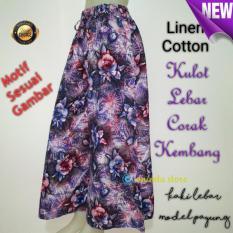 stelan kulot katun jepang BATIK ARETA celana kulot dan blouse ATASAN stelan kulot wanita kekinian motif bungaIDR90000. Rp 95.000