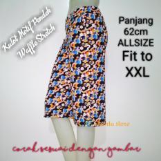 Review Onanta Kulot Pendek Motif Waffle Stretch Wafer Celana Wanita Kulot Midi Di Indonesia