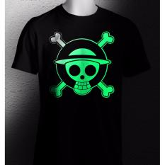 Spesifikasi One Tshirt Kaos One Piece Glow In The Dark Hitam Yang Bagus