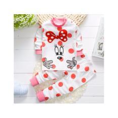 Spesifikasi Onemarkets Piyama Bayi Baju Tidur Bayi Korean Style Motif Minnie Pink Yang Bagus