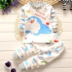 Onemarkets Piyama bayi / Baju Tidur Bayi Motif Doraemon