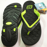 Harga Hemat Onemarkets Sandal Jepit Pria Sandal Casual Cowok D Hitam Hijau