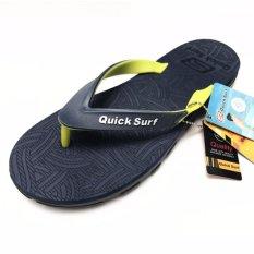 Toko Onemarkets Sandal Jepit Pria Sandal Casual Cowok Qsxy Black Yellow Termurah