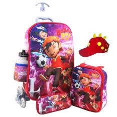 Harga Onlan Tas Trolley Anak 4In1 Set 6 Roda Gagang Samurai Import Dan Topi Unik Merah Marun Baru
