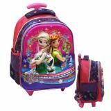 Jual Onlan Disney Frozen 5D Timbul Glow Tas Trolley Anak Sekolah Tk New Arrival Import Pink Online