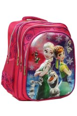 Beli Onlan Disney Frozen Fever 5D Hologram Tas Ransel Sd Ukuran 4 Kantung Besar Import Pink Online Murah