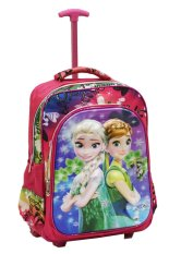 Promo Onlan Disney Frozen Fever 5D Timbul Glow Tas Trolley Ukuran Sd Import Pink Onlan Terbaru