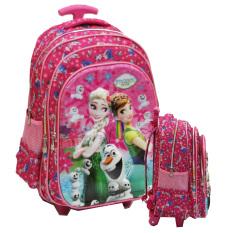 Onlan Disney Frozen Fever 5D Timbul Hologram Trolley Sch**l Bag Ukuran Besar Sd Import Pink Di Dki Jakarta