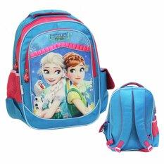 Jual Onlan Disney Frozen Fever Tas Ransel Sekolah Ukuran Besar Sd Bahan Saten Import Blue Online Di Dki Jakarta