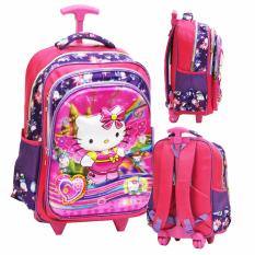 Harga Onlan Hello Kitty 5D Timbul Hologram Tas Trolley Sd Import Pink Seken