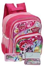 Harga Hemat Onlan Little Pony Ransel Tk Ada 3 Dan Kotak Pensil Set Alat Tulis Anak Pink
