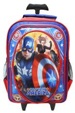 Jual Onlan Marvel Avengers Tas Trolley Anak Sekolah Sd Ukuran Besar Biru Merah Lengkap