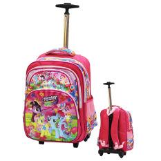 Jual Beli Onlan My Little Pony 5D Timbul Hologram Tas Trolley Stainless Steel Anti Karat Ukuran Kantung Besar Import Pink Baru Indonesia