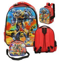 Beli Onlan Transformers 5D Timbul Hologram Tas Ransel Tk Dan Lunch Bag Import