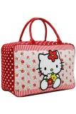 Toko Onlan Travel Bag Karakter Hello Kitty Bahan Kanvas Halus Merah Dki Jakarta