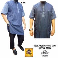 Online Gamis / Kurta Double Krah - Biru