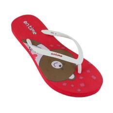 Ontime Kuma Sandal Jepit - Red