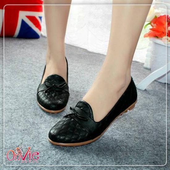 Onvie sepatu Balet wanita Pita   Flat Shoes Formal Kerja Kuliah Sekolah