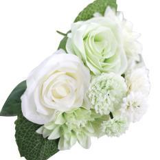 Ooplm Buatan Dihasilkan Bunga, Pawaca Mawar Buatan, Dahlia, melaleuca Hampir Alam Aksesoris untuk Pernikahan Dekorasi Rumah (8 Pcs)-Internasional